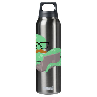 Funny Cartoon Octopus Liberty Bottle 16 Oz Insulated SIGG Thermos Water Bottle