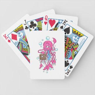 Funny Cartoon Octopus Card Decks