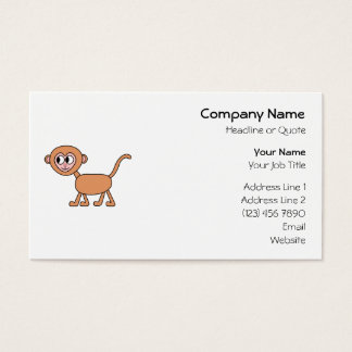 Funny Cartoon of a Monkey. Business Card
