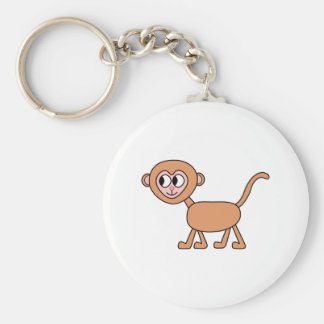Funny Cartoon of a Monkey. Keychain