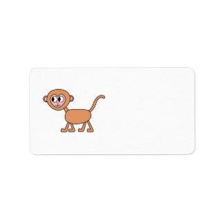 Funny Cartoon of a Monkey. Label