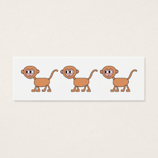 Funny Cartoon of a Monkey. Mini Business Card