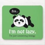 Funny Cartoon of Cute Sleeping Panda Mouse Pad