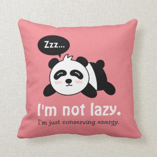 Funny Cartoon of Cute Sleeping Panda Throw Pillow
