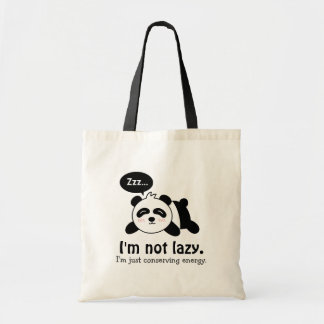 Funny Cartoon of Cute Sleeping Panda Tote Bag