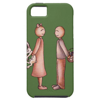 Funny Cartoon of Girl Giving Boy Easter Bunny Case For The iPhone 5
