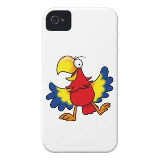 Funny cartoon parrot iPhone 4 Case-Mate cases