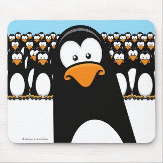 Funny Cartoon Penguin Army Mousepad