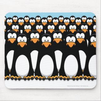 Funny Cartoon Penguins Mousepad