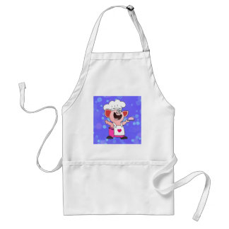 Funny Cartoon Pig Chef Apron