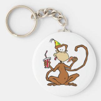 Funny Cartoon Pizza Monkey Key Chains