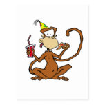 Funny Cartoon Pizza Monkey Postcards
