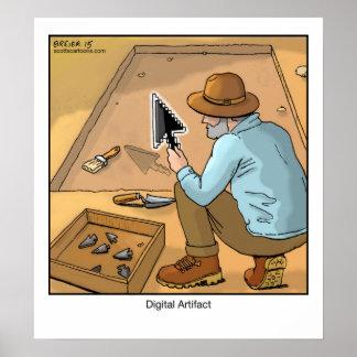 Funny Cartoon Poster- Digital Artifact Poster