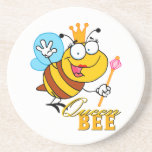 funny cartoon queen bee with text