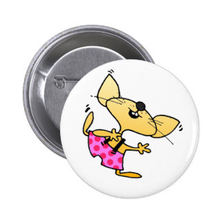 Funny Cartoon Rats Dance 6 Cm Round Badge