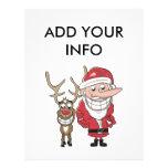 Funny Cartoon Santa and Rudolph 21.5 Cm X 28 Cm Flyer