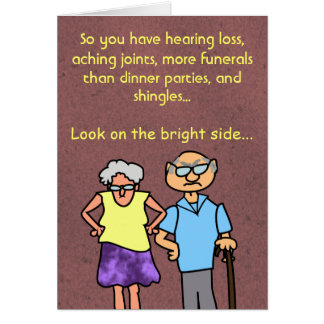 Funny Cartoon Seniors Discount Old Age Birthday Card