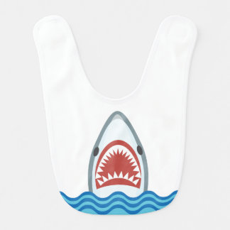 Funny Cartoon Shark Head Bib