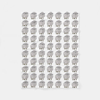 Funny Cartoon Sheep Fleece Blanket