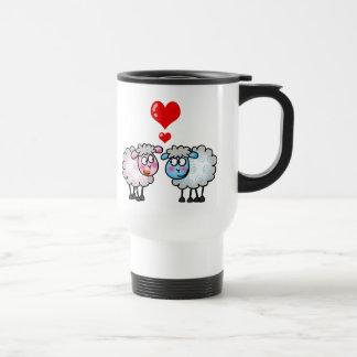 Funny cartoon sheeps, Wedding couple Mugs