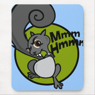 FUNNY CARTOON STYLE SQUIRREL MOUSE PAD