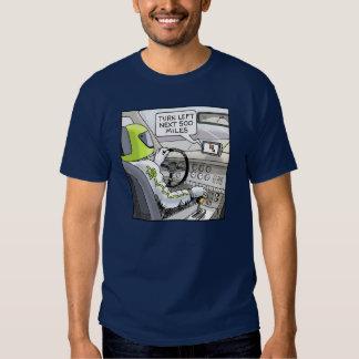 Funny Cartoon T-shirt Stock Car Racing GPS