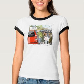 Funny Cartoon T-shirt- Zombie Minivan T-shirt