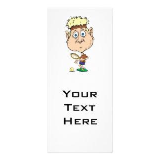 funny cartoon tennis player custom rack cards
