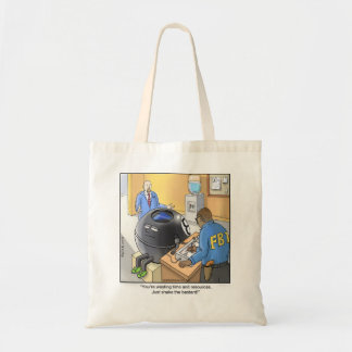 Funny Cartoon Tote- Magic 8 Ball Budget Tote Bag