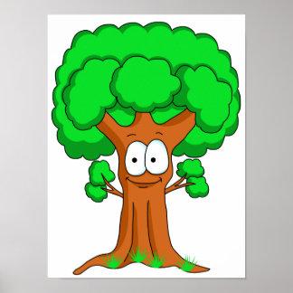 Funny Cartoon Tree Poster