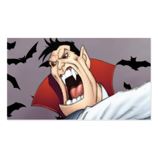 Funny Cartoon Vampire with Bats by Al Rio Pack Of Standard Business Cards