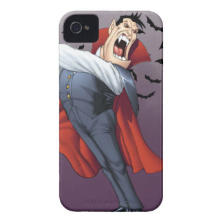 Funny Cartoon Vampire with Bats by Al Rio iPhone 4 Case-Mate Case