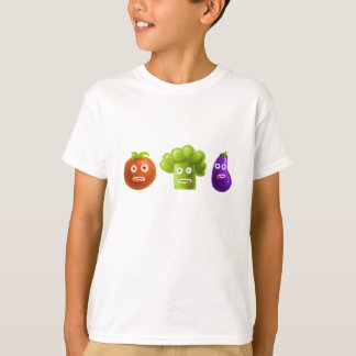 Funny Cartoon Vegetables Kids T-Shirt