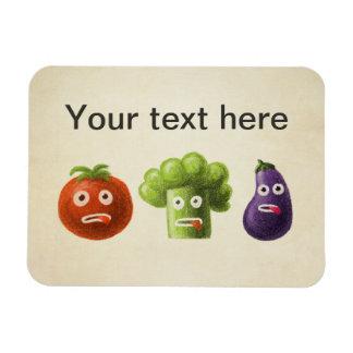 Funny Cartoon Vegetables Vinyl Magnet