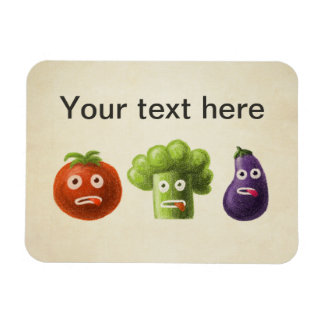 Funny Cartoon Vegetables Rectangular Photo Magnet