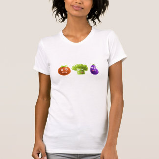 Funny Cartoon Vegetables Womens T-Shirt