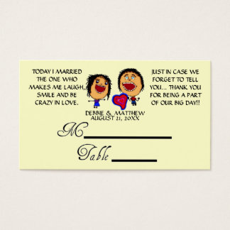Funny Cartoon Wedding Placecards Business Card
