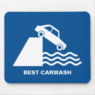 Funny Carwash Sign Mouse Mat