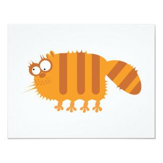 Funny Cat 11 Cm X 14 Cm Invitation Card
