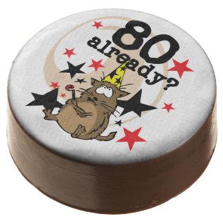 Funny Cat 80th Birthday Dipped Oreos