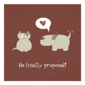 Funny Cat and Dog - Save the Date invitation