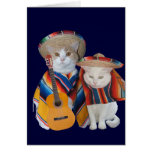 Funny Cat Anniversary for Husband in Spanish Greeting Card