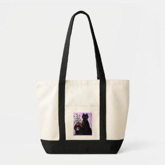 Funny Cat Art Black Tuxedo Creationarts Impulse Tote Bag