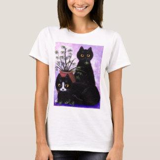 Funny Cat Art Black Tuxedo Creationarts T-Shirt