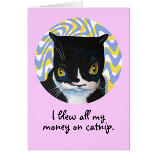 Funny Cat Birthday Greeting Card
