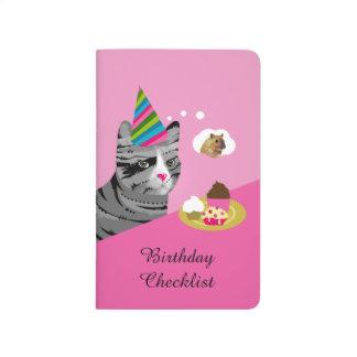 Funny Cat Birthday Checklist Journal