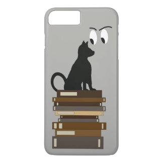 Funny Cat Books Geeky Cute Gifts iPhone 8 Plus/7 Plus Case