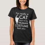 Funny Cat Costume, Halloween Women's T-Shirt