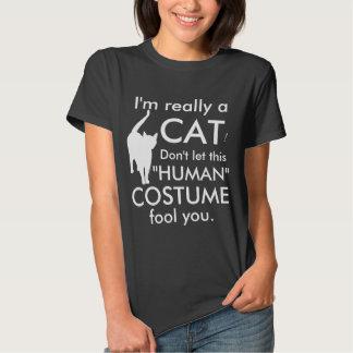 Funny Cat Costume, Halloween Women's Tee Shirt