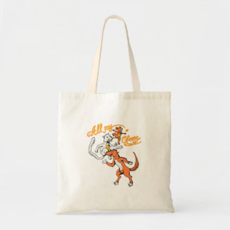funny cat dog mouse all say cheese vector cartoon budget tote bag